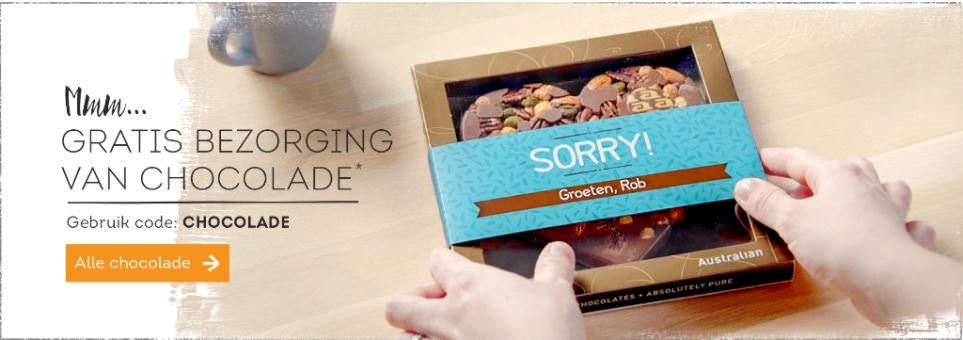gratis bezorging chocolade